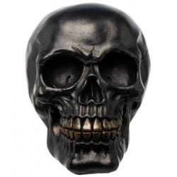 Crâne métallique noir