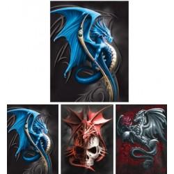 Tableaux holographiques créatures légendaires