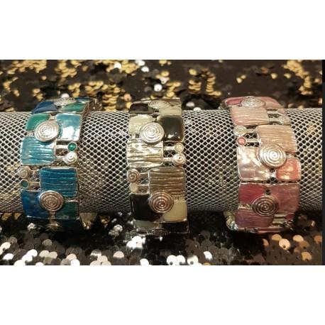 Bracelet Métal/Email 3M