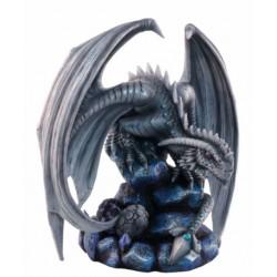 Figurine dragon sur son rocher