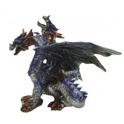 Figurine Dragon violet à deux têtes
