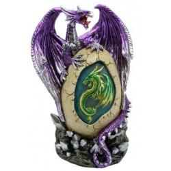 Figurine Dragon perché sur son oeuf