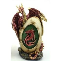 Figurine dragon petit format rose