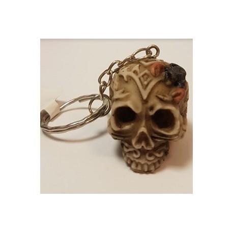 Porte clés crâne avec crabe