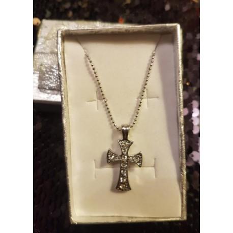 croix ciselée et strass