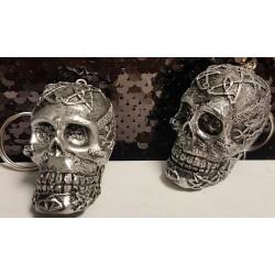 Porte clé crâne anthracite