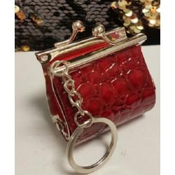 Porte-clés sac à main rouge