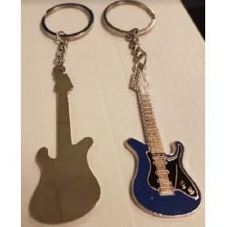 Porte-clés guitare métal  bleu
